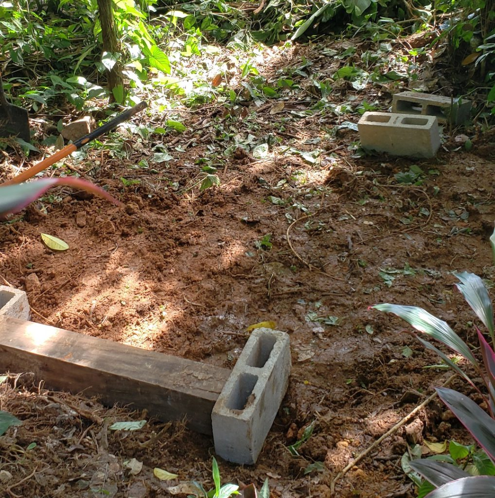upcycling how to build a DIY compost shed - 2 Compost Shed - Bare Ground