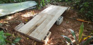 upcycling how to build a DIY compost shed - 3 Compost_Shed_Foundation