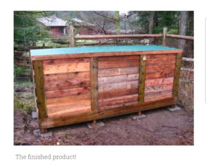 upcycling how to build a DIY compost shed - backyard feast idea