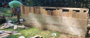 how to upcycle a raised garden bed - add siding 2