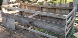 how to upcycle a raised garden bed - create a frame