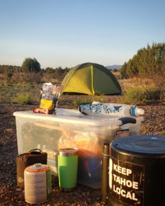 back in the states a life update - making breakfast at cosmic campground